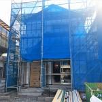 新潟市江南区東船場の新築住宅の施工中写真