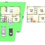 新潟市江南区松山の中古住宅の間取り図