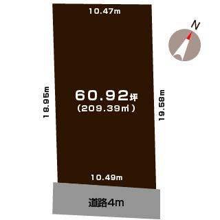 新潟市西区松梅が丘の土地の敷地図