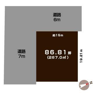 新発田市下小中山の土地の敷地図