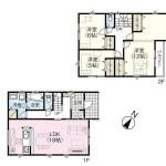 新潟市西区青山の新築住宅の間取り図