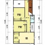 新潟市東区小金台土地の建築プラン例2の2階間取図