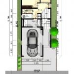 新潟市東区小金台土地の建築プラン例1の配置図