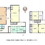 加茂市八幡の中古住宅の間取図