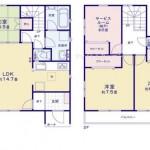 新潟市中央区弁天橋通の新築住宅の間取り図