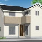 新潟市東区中山の新築住宅の外観完成予定パース