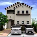 新潟市東区小金台の土地の建物プラン区画2(外観パース)
