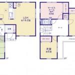 新潟市東区猿ケ馬場の新築住宅の間取り図