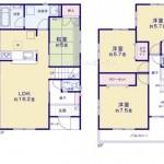 新潟市東区太平の新築住宅の間取り図