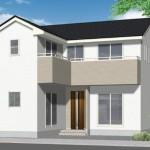 新潟市東区猿ケ馬場の新築住宅の外観完成予定パース