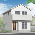 新潟市中央区小張木の新築住宅の外観完成予定パース
