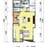 新潟市東区小金台土地の建築プラン例3の2階間取図