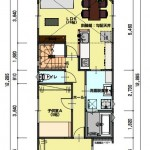 新潟市東区小金台土地の建築プラン例1の2階間取図