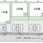 新潟市秋葉区金沢町の新築住宅の敷地図