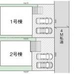 新潟市西区青山の新築住宅の敷地図