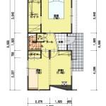 新潟市東区小金台土地の建築プラン例3の1階間取図