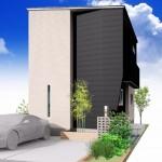 新潟市東区小金台土地の建築プラン例3の外観パース