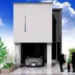 新潟市東区小金台土地の建築プラン例1の外観パース
