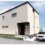 新潟市西区小針台の建物プランの外観パース