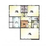 新潟市東区小金台の土地の建物プラン区画1(2階間取図)