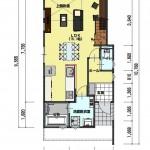 新潟市東区小金台土地の建築プラン例2の1階間取図