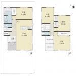 新発田市大栄町の新築住宅の間取り図