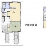 新潟市西区新中浜の中古住宅の間取り図