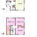 新潟市西区善久の中古住宅の間取り図