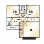 新潟市東区牡丹山の土地の建築プラン例の2階間取図