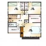 新潟市東区小金台の土地の建物プラン区画2(2階間取図)
