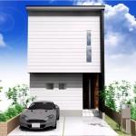 新潟市東区小金台土地の建築プラン例2の外観パース