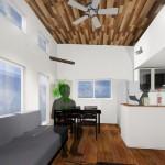 新潟市東区小金台土地の建築プラン例1の内観パース