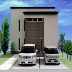 新潟市東区小金台の土地の建物プラン区画1(外観パース)