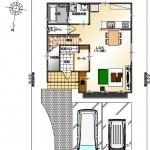 新潟市東区小金台の土地の建物プラン区画2(1階間取図)