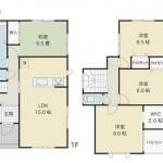 新発田市大栄町の新築住宅の間取図
