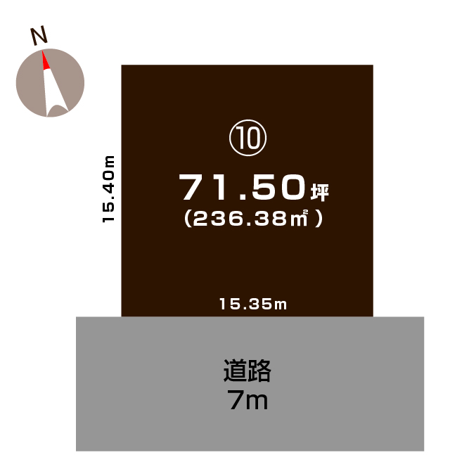 上越市大貫の土地の敷地図(敷地図)