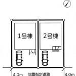 新潟市中央区弁天橋通の新築住宅の土地の区画図