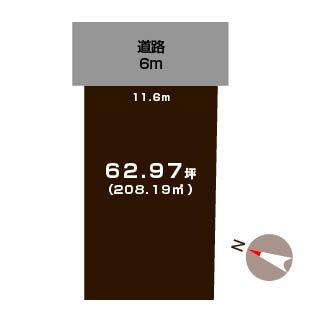 新潟市南区高井東の土地の敷地図