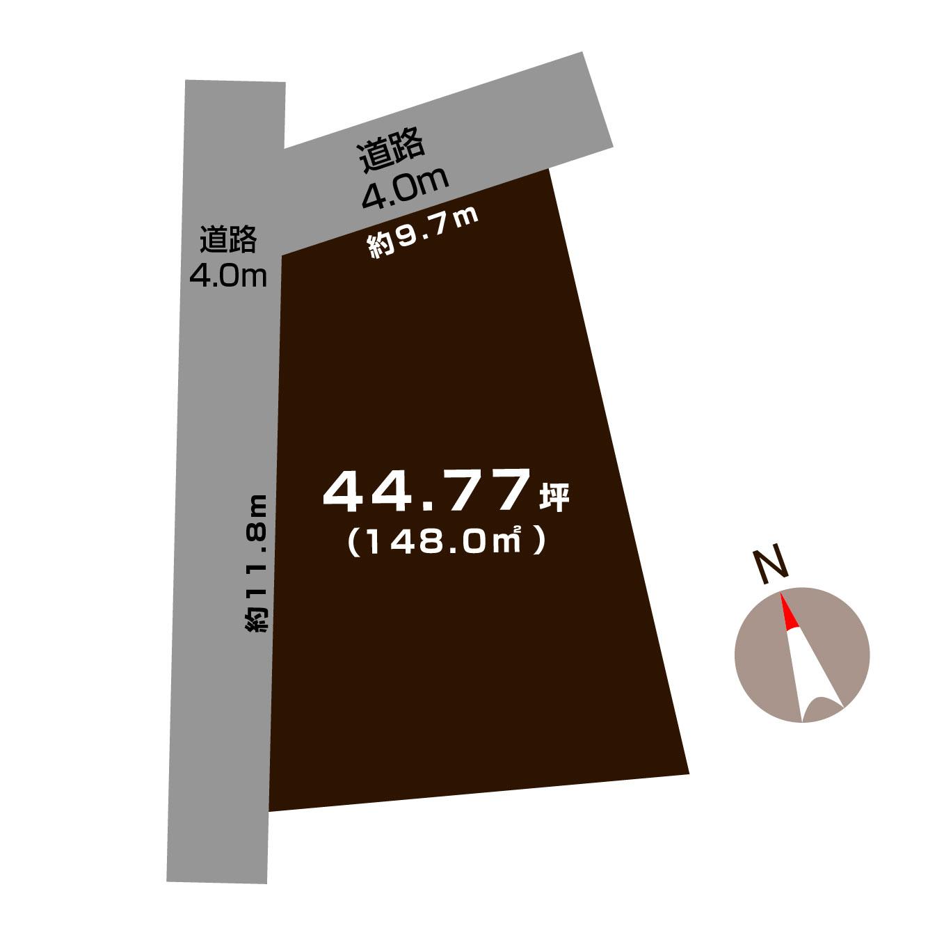 見附市今町の土地の敷地図