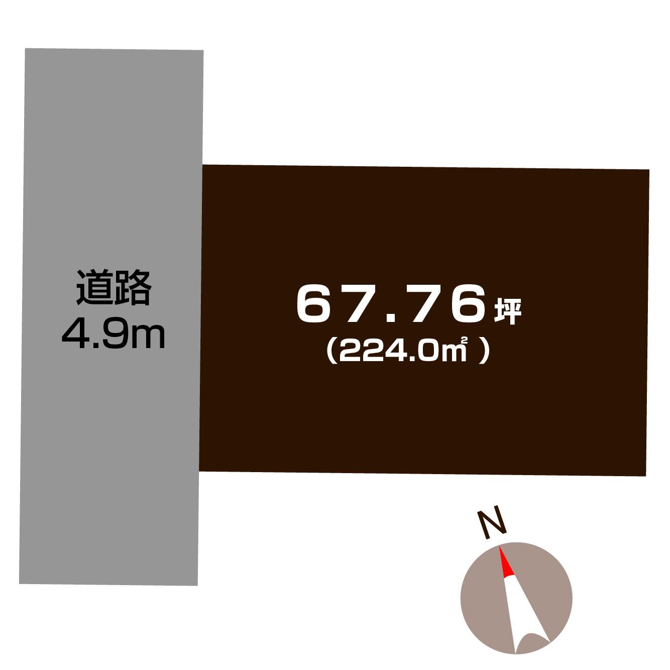 長岡市金房の土地の敷地図