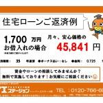 新潟市中央区万代の中古マンションの住宅ローン返済例