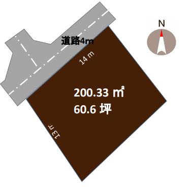 新潟市西区小針西の土地の敷地図