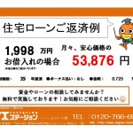 新潟市東区松崎の中古住宅の住宅ローン例