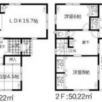 新潟市秋葉区新栄町の新築住宅の間取り図