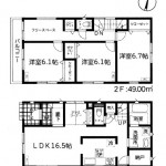 新潟市西区小新の新築住宅の写真(間取)