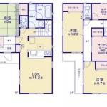 新潟市西区坂井東の新築住宅の間取り図