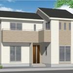 新潟市秋葉区新栄町の新築住宅の外観完成予定パース