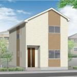 阿賀野市曽郷の新築住宅の外観完成予定パース