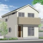 新潟市西区小新の新築住宅の外観完成予定パース(外観)