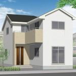 新潟市西区坂井東の新築住宅の外観完成予定パース